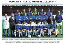 OLDHAM ATHLETIC F.C.TEAM PRINT 1977 (GROVES / CHAPMAN / HALOM)