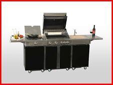 Coobinox Edelstahl Gasgrill 4 Brenner KITCHEN PIANO BBQ Wok Spültisch Außenküche