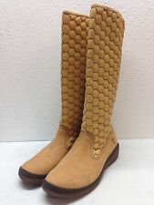 NEW Timberland Kickadilla Wheat Suede Tall Pull On Boots Women's Size 10 M