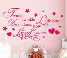 Twinkle Twinkle Little Star Wall Decal Vinyl Sticker Kids Nursery Bedroom Decor
