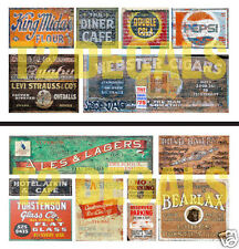 N Scale Ghost Sign 2-Pack #3 - For Weathering Buildings & Structures! SAVE $2