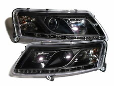 A6 C6 4F 2004-2008 04-08 Projector LED R8Look HEADLIGHT Black for AUDI