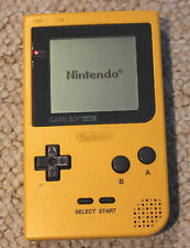 NINTENDO GAMEBOY POCKET YELLOW CONSOLE GAME BOY SYSTEM TESTED WORKING RARE!