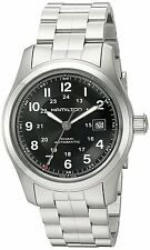 Hamilton Mens Khaki Field Automatic Stainless Steel Bracelet Watch H70515137