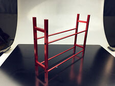 RC Truck Tyre Rack for 1/10 Wheel Rims Tire RC4WD SCX10 D90 CC01 F350 Red