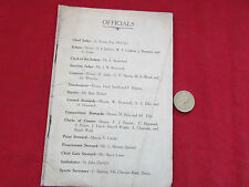 DERBY  Cycling Tournament  Original 1931  Programme  Great Period Adverts