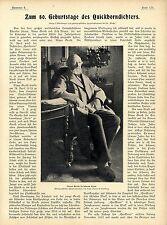 Zum 80.Geburtstag des Quickborndichters Klaus Groth in seinem Heim kurz v...1899
