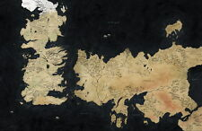 """05 A Game of Thrones HBO World Map 21""""x14"""" Poster"""