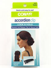 CONAIR ACCORDION CLIP CREATES  FRENCH TWISTS, BUNS, AND CHIGNONS (55631)