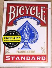 Red 808 Rider Deck Bicycle Playing Cards Poker Size USPCC New & Sealed +Free App