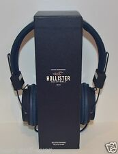 NEW HOLLISTER BLUE HEADPHONES TABLET SMARTPHONE MP3 COMPUTER SLIGHTLY DAMAGED