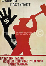Kill The Fascist Beast WW2 Soviet Propaganda Poster 18x24