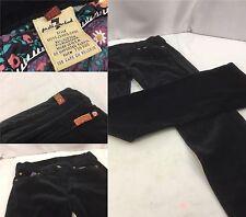 Seven For All Mankind Pants Sz 26 Black Velvet Cotton Lycra 30x30 Euc M4U Y536