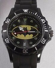 DC Comics BATMAN Batwing Logo Black Silicone Band WRIST WATCH