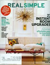 2012 Real Simple Magazine: Instant Room Upgrades/Work Clothes/Diet Trends/Makeup