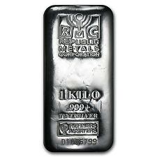 1 kilo Silver Bar - Republic Metals Corporation (RMC) - SKU #89402