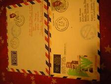 Brief mit Sst illustriert : marocco Luftpost Lufthansa Casablanca 2 belege