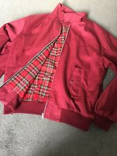 Burgundy Size M Men's Harrington Jacket Mod Skin Scooter Made In England