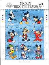 Gambie 1989 disney/films/mickey mouse 60th anniversaire/animation 9v sht d00234w