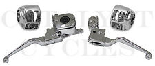 Chrome Hand Controls & Chrome Switch Housings for Harley Hand Controls 1996-2006