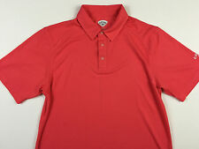 CALLAWAY MENS Large New PINK GOLF POLO SHIRT TAG SIZE L