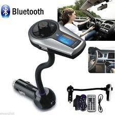 Bluetooth Car Kit MP3 Player Hands-free Wireless FM Transmitter Radio Remote+SWC