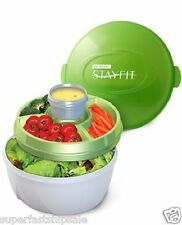 Fruit Vegetable Salad 3 Compartment Freezer Tray Container Keeper Saver Set New