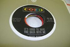 Rock 45 Adam Wade - It'S Good To Have You Back With Me / How Are Things In Lover