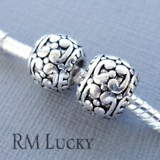 2pcs European Charms Large hole Silver tone Beads Spacer for charm Bracelet C69