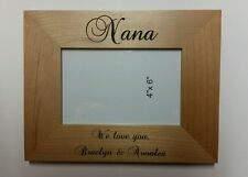 Personalized Laser Engraved 4x6 frame for Nana Grandma's Birthday Christmas Gift