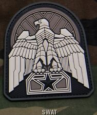 INDUSTRIAL EAGLE SWAT TACTICAL COMBAT BADGE MORALE 3D PVC VELCRO MILITARY PATCH