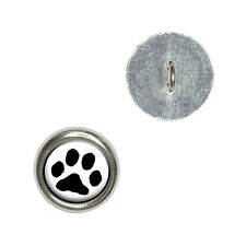 Paw Print - Pet Dog Cat - Metal Craft Sewing Novelty Buttons Set of 4