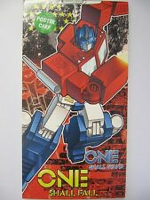 FANTASTIC TRANSFORMERS ONE SHALL FALL POSTER CARD BIRTHDAY GREETING CARD