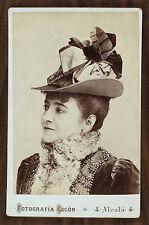 La cantatrice Adelina Patti, Opéra, Singer, Photo cabinet card, Colon Madrid