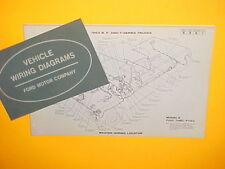 1963 FORD B T SERIES F-100 250 350 PICKUP TRUCK FACTORY ORIGINAL WIRING DIAGRAMS