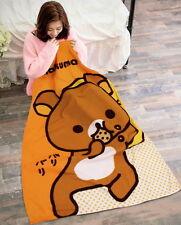 San-X Rilakkuma Fleece Throw Blanket Warm Soft 100x150cm RK-B1101 NEW!