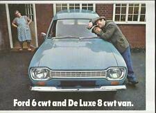 FORD Escort 6 CWT et de luxe 8 CWT Vans brochure 1968