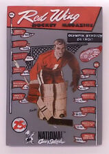 TERRY SAWCHUK RED WINGS NATIONAL CONEY ISLAND GAME GIVE AWAY PLAQUE 6 X 4 1/2