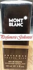MONTBLANC PRESENCE UOMO TRAVEL SIZE EDT VAPO NATURAL SPRAY - 30 ml