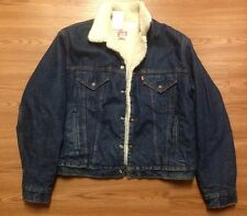 LEVI'S VINTAGE SHERPA LINED TRUCKER JACKET BLUE DENIM 44 R Made In USA