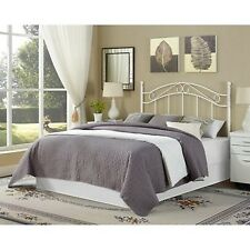 Traditional Metal White Full Queen Size Headboard Bed Bedroom Frame Furniture