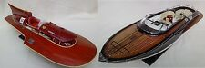 "Lot of Ferrari Hydroplane 20"" & Riva Rama 26"" Quality Wooden Speed Boat Model"