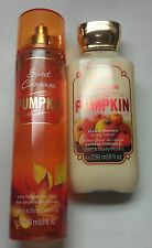 Authentic US Bath & Body Works SWEET CINNAMON PUMPKIN mist & body lotion 8oz