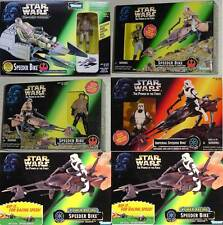 STAR WARS LOT 6 SPEEDER BIKES LUKE LEIA SCOUT TROOPER EXP UNIV POWER RACING x 2