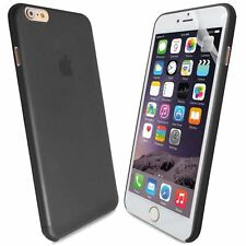 Black Hard PC For iPhone 6G Plus 5.5|0.3MM Ultra Thin Case Cover+Screen Guard
