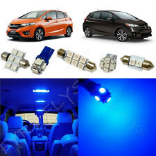 6x Blue LED lights interior package kit for 2015 & Up Honda Fit HF2B