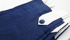 "NAVY BLUE ROYAL BLUE COTTON SATIN  CURTAINS TAB TOP    90""X 90"""