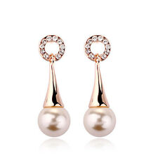 Fashion Jewelry - 18k Rose Gold Plated Imitation Pearl Stud Earrings (FE322)
