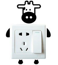 FD1241 Sweet Calf Robot Switch Light Funny Wall Decal Vinyl Stickers DIY ~1pc~