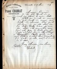"""CHENERAILLES (23) MATERIAUX de CONSTRUCTION """"Pierre CHABRAT"""" en 1907"""
